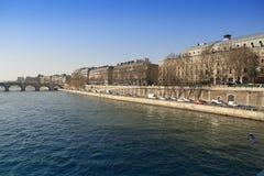 Paris. Seine Embankment. Stock Photo