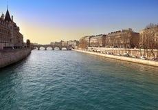 Paris. Seine Embankment Stock Images