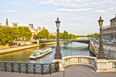 Paris and the Seine, France Stock Photo