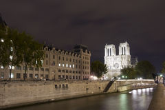 Paris Seine Notre Dame Stock Photography