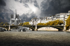 Paris and the Seine Royalty Free Stock Photo