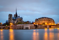 Paris, Seine and Notre Dame Stock Images