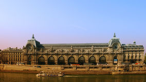Paris seine at Orsay Royalty Free Stock Photos