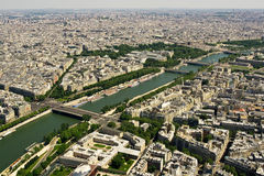 Paris and Seine river Royalty Free Stock Image