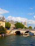 Paris Seine river Stock Image