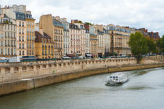 Paris Seine River Boat Stock Photos