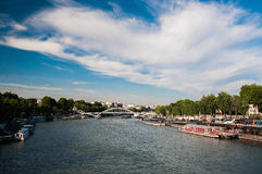 Paris seine river Royalty Free Stock Photo