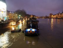 Paris Seine river flood January 2018 Royalty Free Stock Photo