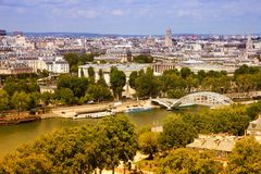 Paris Seine River Royalty Free Stock Images