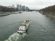 Paris Seine River, Frankrike Fotografering för Bildbyråer