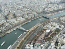 Paris Seine River, Frankrike Arkivfoto