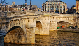 Paris by the Seine River Stock Photo