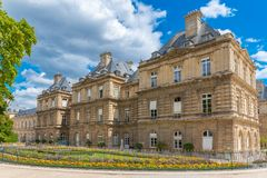 Paris, the Senat in the Luxembourg garden royalty free stock images