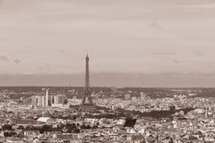 Paris in sepia Stock Image