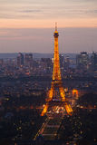 Night Paris. France. Top view. Stock Photography