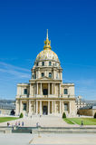 Paris - SEPTEMBER 15, 2012: Les Invalides hus på September 15 Arkivbilder