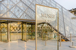 Paris - SEPTEMBER 18, 2012: Louvremuseum Royaltyfri Bild