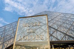 Paris - SEPTEMBER 18, 2012: Louvremuseum på Royaltyfri Foto