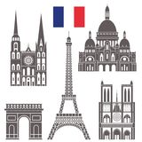 Paris.  Set. Paris. Architecture. Set. Vector illustration (EPS Stock Photos