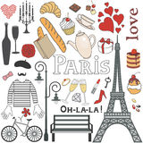 Paris set Royalty Free Stock Images