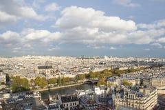 Paris sikt av staden Arkivbilder