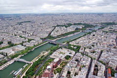 Paris from the sky Stock Images