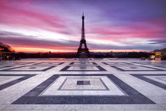 Paris Sky on Fire Royalty Free Stock Photography