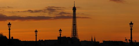 Paris-Skyline Stockbilder