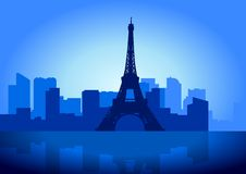 Paris-Skyline Lizenzfreies Stockbild