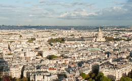 Paris skyline. Panoramic view of Paris from the top of Eiffel Tower Royalty Free Stock Photography