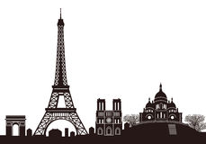 Paris Skyline And Tourist Spot Royalty Free Stock Image