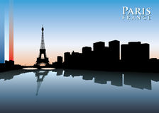 Paris skyline Stock Photo