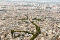 Paris skyline from above Stock Photos