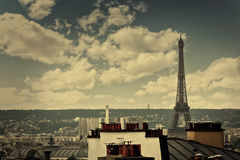 Paris skyline aerial from Montmartre. In France Royalty Free Stock Photo
