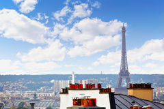 Paris skyline aerial from Montmartre. In France Stock Image