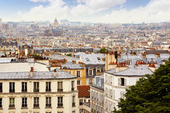 Paris skyline aerial from Montmartre. In France Royalty Free Stock Photos