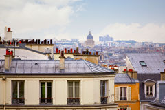 Paris skyline aerial from Montmartre. In France Royalty Free Stock Images