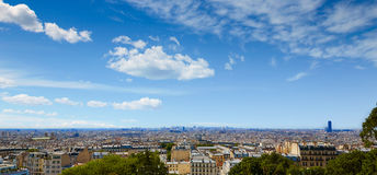 Paris skyline aerial from Montmartre. In France Royalty Free Stock Image