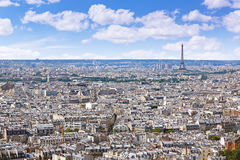 Paris skyline aerial from Montmartre. In France Stock Photos