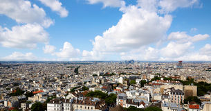 Paris skyline aerial from Montmartre. In France Stock Photo