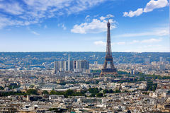 Paris skyline aerial from Montmartre. In France Stock Photography