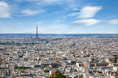 Paris skyline aerial from Montmartre. In France Stock Images