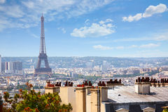 Paris skyline aerial from Montmartre Royalty Free Stock Images