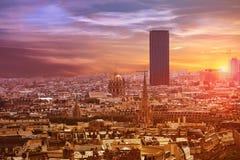 Paris skyline aerial view France Stock Photo