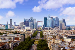 Paris skyline aerial view France Stock Image