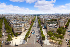 Paris skyline Champs Elysees and Concorde Stock Image
