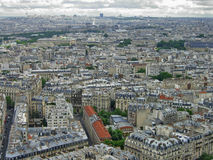 Paris skyline on cloudy day. Cityscape of Paris, France on overcast day Stock Photography