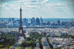 Paris skyline. With the Eiffel tower Stock Image