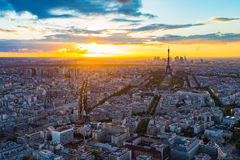 The Paris skyline with Eiffel Tower in background Royalty Free Stock Photos