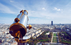The Paris skyline from Eiffel tower Royalty Free Stock Photo